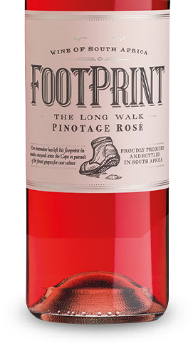 Footprint The Long Walk Pinotage Rosé 2018 von African Pride